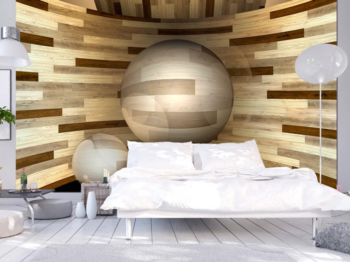 3D tapeta Dřevěný orbit