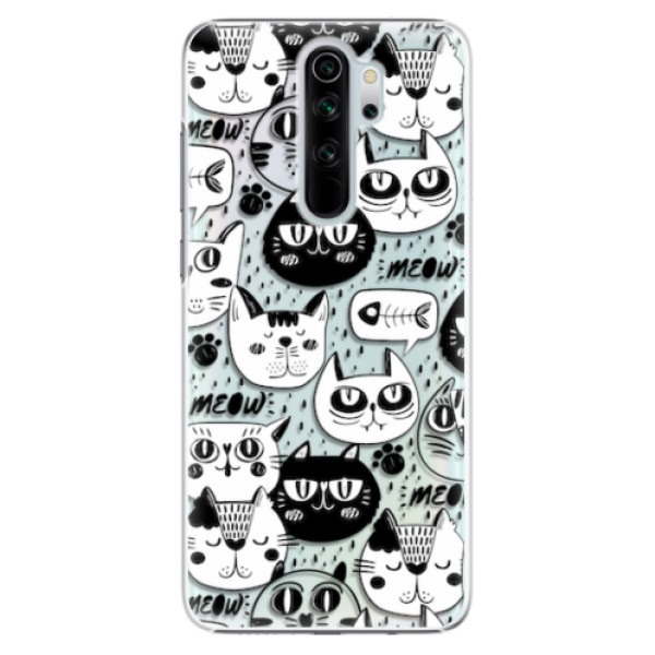 Plastové pouzdro iSaprio - Cat pattern 03 - Xiaomi Redmi Note 8 Pro