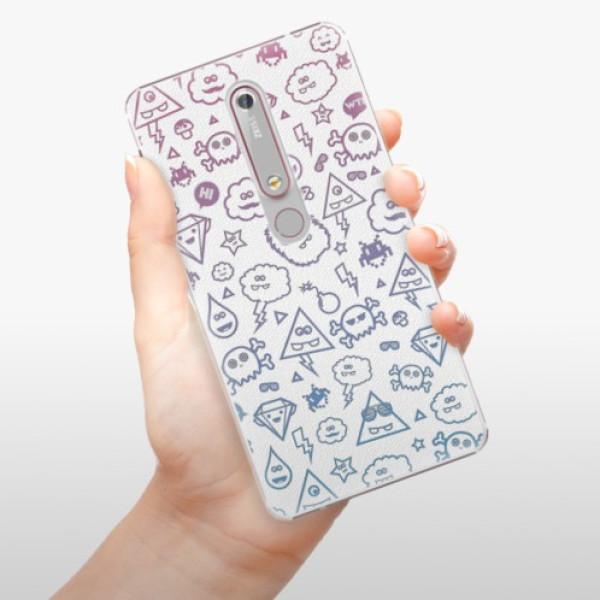 Plastové pouzdro iSaprio - Funny Clouds - Nokia 6.1