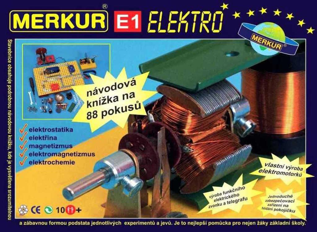 MERKUR E1 Elektřina, magnet * KOVOVÁ STAVEBNICE *
