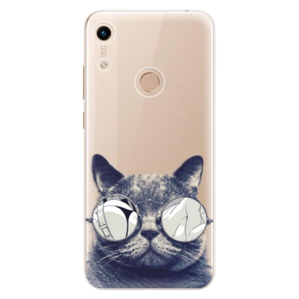 Odolné silikonové pouzdro iSaprio - Crazy Cat 01 - Huawei Honor 8A