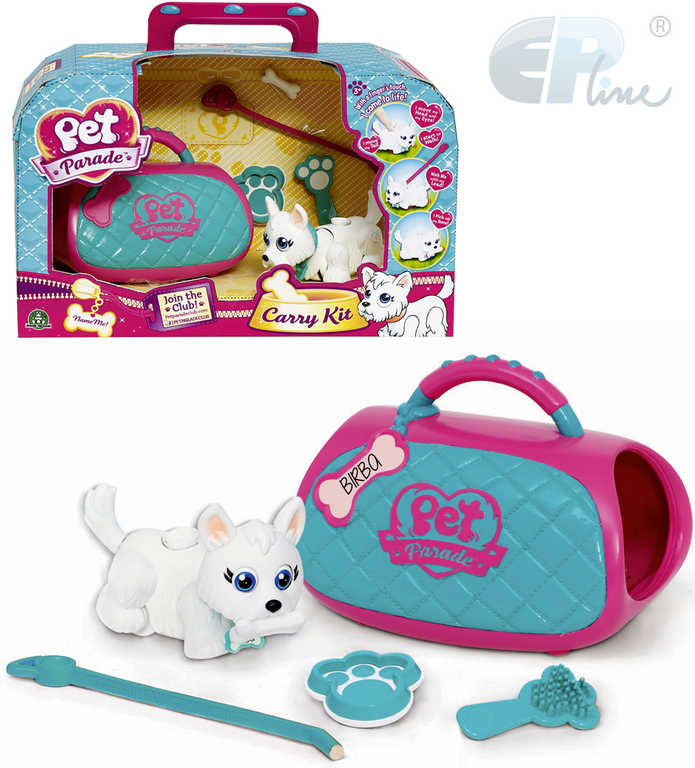 EP Line Pet Parade Set pejsek mazlíček s vodítkem s taštičkou a doplňky