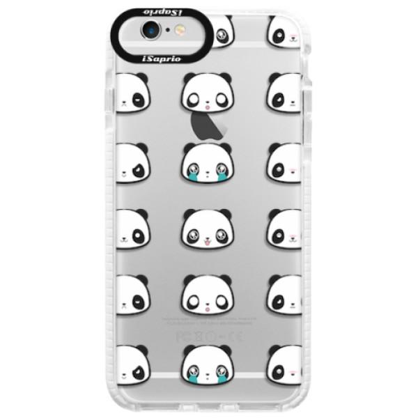 Silikonové pouzdro Bumper iSaprio - Panda pattern 01 - iPhone 6 Plus/6S Plus