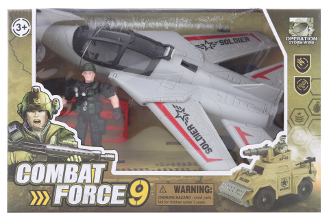 Vojenská sada s letadlem