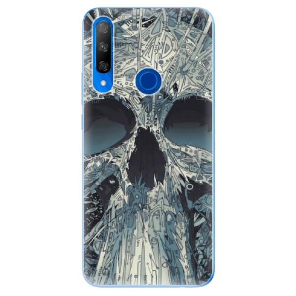 Odolné silikonové pouzdro iSaprio - Abstract Skull - Huawei Honor 9X