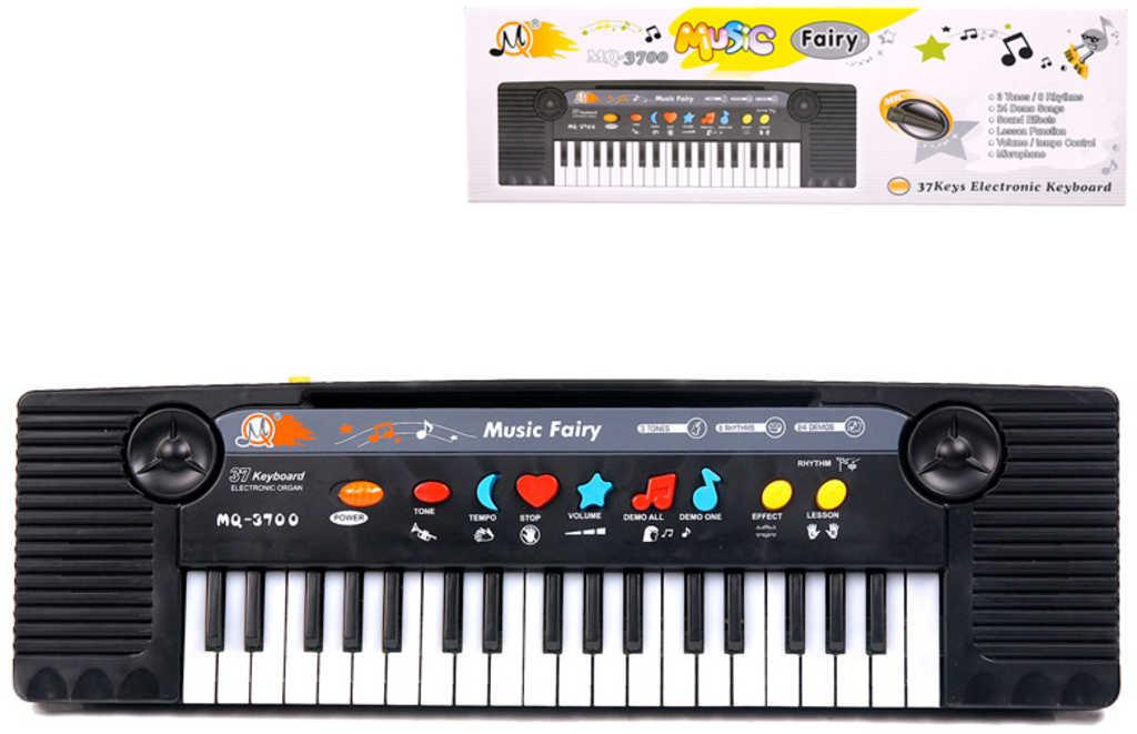 Klávesy elektronický dětský keyboard 37 kláves pianko s mikrofonem
