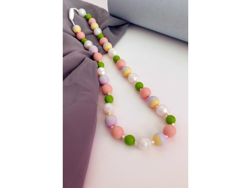 MIMIKOI - Kojící korále barevné kuličky pastelové