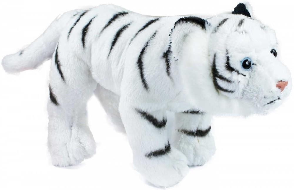 PLYŠ Tygr stojící bílý 22cm exkluzivní kolekce *PLYŠOVÉ HRAČKY*