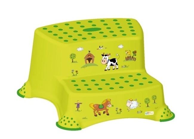 Keeeper Stolička - schůdky s protiskluzovou funkcí - Funny Farm - zelená