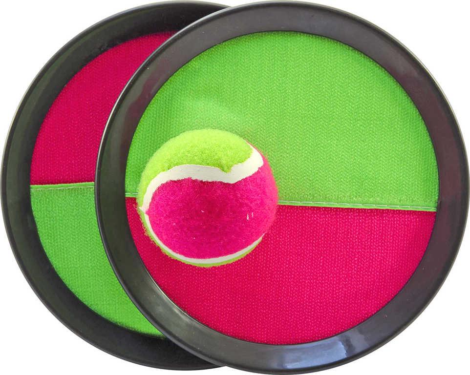 Hra Lambada Catch ball set 2 talíře s míčkem na suchý zip v síťce