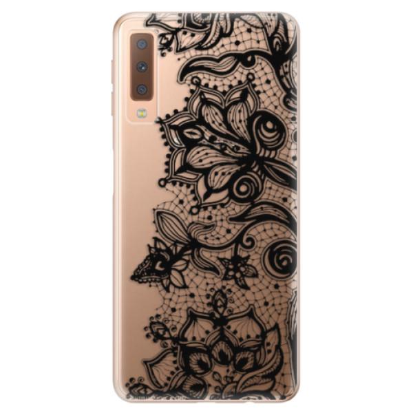 Odolné silikonové pouzdro iSaprio - Black Lace - Samsung Galaxy A7 (2018)