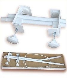 Konstrukce - držák nebes/moskytiery - bílý