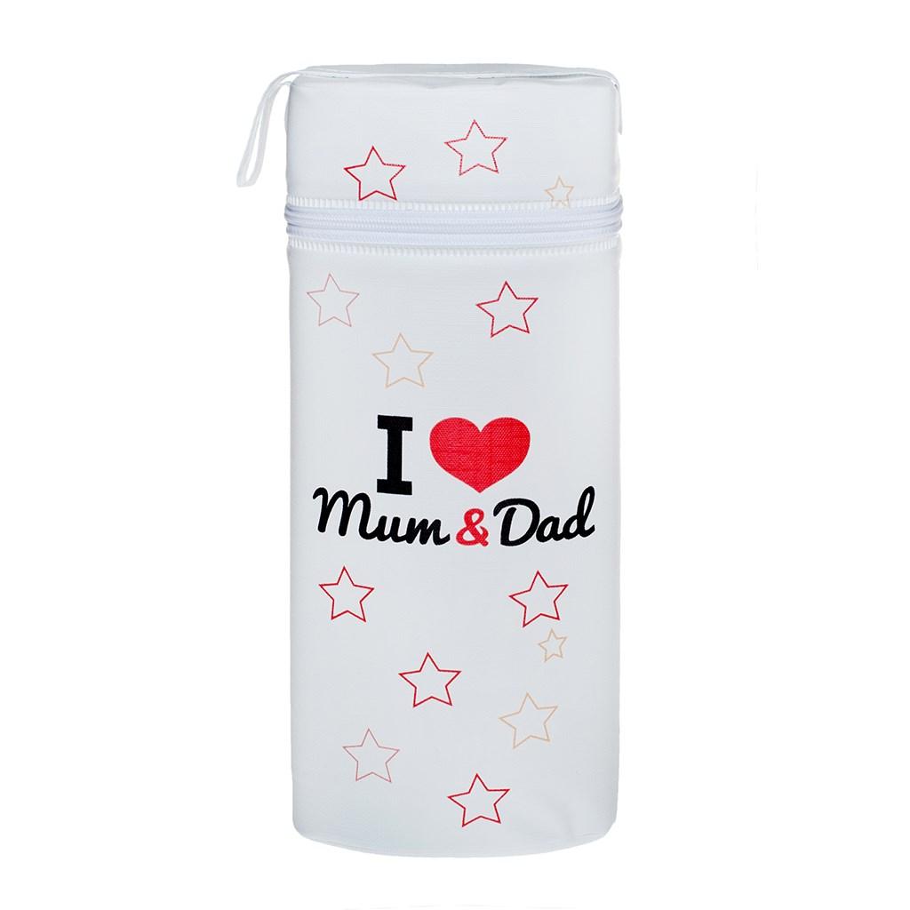 Termoobal Jumbo New Baby I love Mum and Dad - bílá