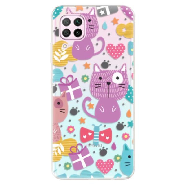 Odolné silikonové pouzdro iSaprio - Cat pattern 01 - Huawei P40 Lite