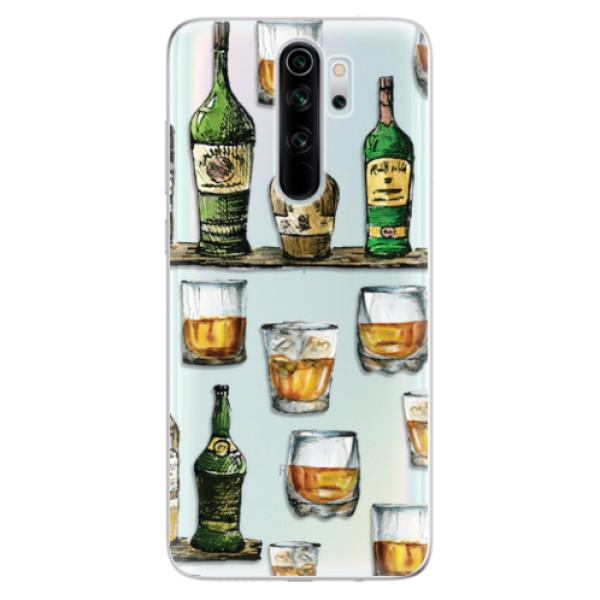 Odolné silikonové pouzdro iSaprio - Whisky pattern - Xiaomi Redmi Note 8 Pro