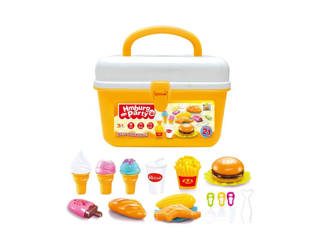 G21 Hračka hamburger a zmrzlina v kufříku