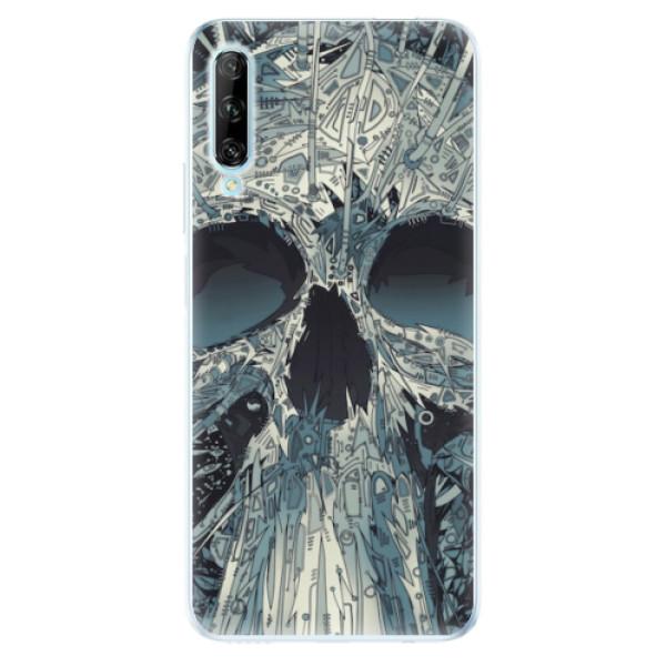 Odolné silikonové pouzdro iSaprio - Abstract Skull - Huawei P Smart Pro