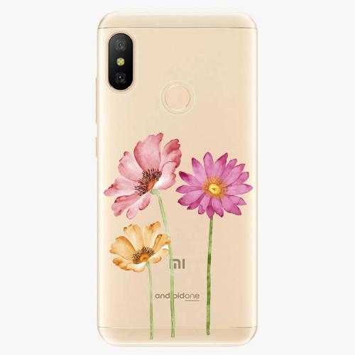 Silikonové pouzdro iSaprio - Three Flowers - Xiaomi Mi A2 Lite