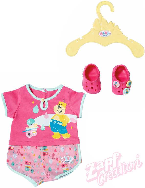 ZAPF BABY BORN Pyžámko set s bačkůrkami a ramínkem pro panenku miminko