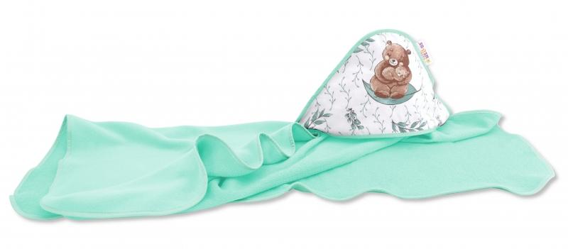 detska-termoosuska-s-kapuci-baby-nellys-lulu-natural-100-x-100-cm-zelena