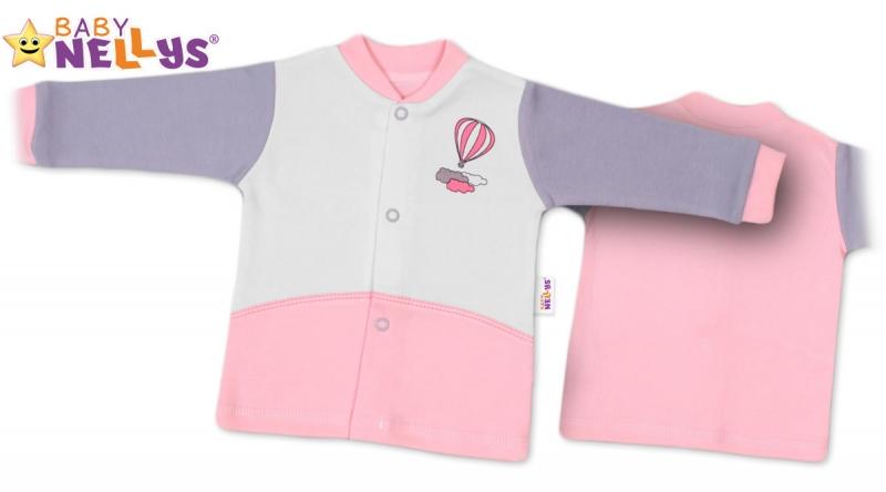 Košilka Baby Nellys ® Balónek v růžové, vel. 68 - 68 (4-6m)