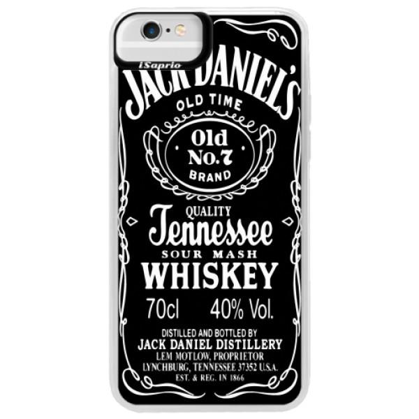 Neonové pouzdro Blue iSaprio - Jack Daniels - iPhone 6 Plus/6S Plus