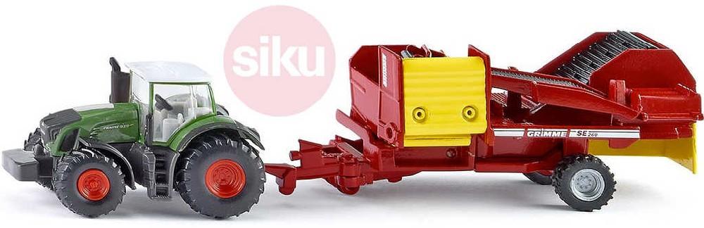 SIKU Traktor Fendt SE260 set s vlekem na sklízení brambor 1:87 model kov 1808
