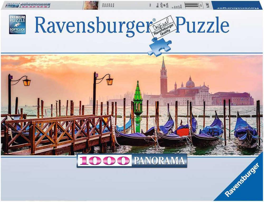 RAVENSBURGER Puzzle panoramatické Benátky 1000 dílků 98x38cm foto skládačka