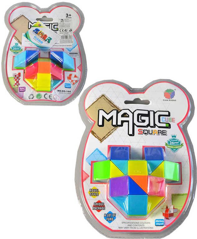Hra kostka magická 3D skládačka hlavolam variabilní plast