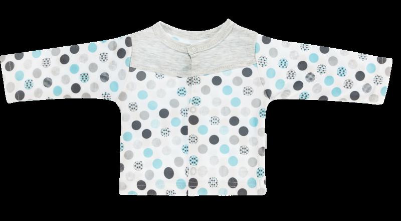 Mamatti Bavlněná košilka Bubble Boo - tyrkys/šedá, vel.