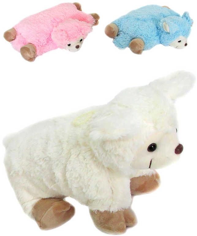 PLYŠ Polštářek zvířátko ovečka 27x22cm různé barvy *PLYŠOVÉ HRAČKY*