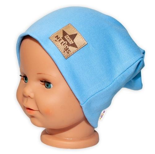 baby-nellys-hand-made-detska-funkcni-cepice-s-dvojitym-lemem-sv-modra-48-50-cepicky-obvod