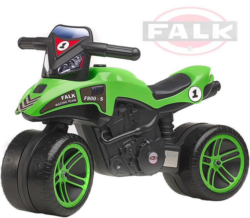 FALK Baby motorka odrážedlo Moto Racing Team dětské odstrkovadlo zelená