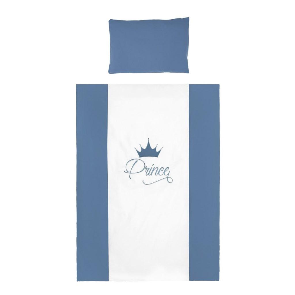 5-dílné ložní povlečení Belisima Royal Baby 100/135 - modrá