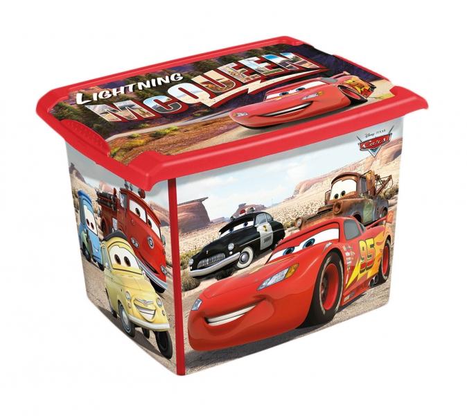 Box na hračky, dekorační Cars 20,5 l - černá/červená
