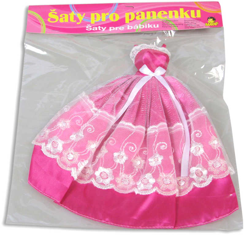Šaty (oblečky) pro panenku plesové 24 cm