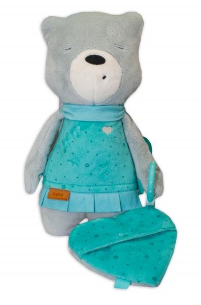 Šumící mazlíček Medvídek Lena 33 cm - Snímač spánku