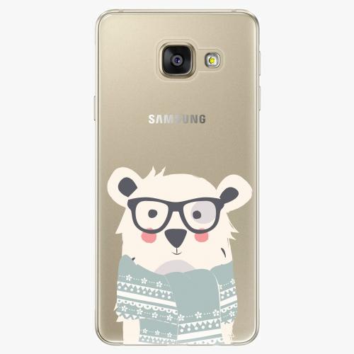 Plastový kryt iSaprio - Bear With Scarf - Samsung Galaxy A3 2016