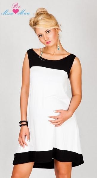 Těhotenské šaty HALINA - bílé, uni