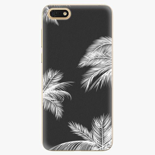 Silikonové pouzdro iSaprio - White Palm - Huawei Honor 7S