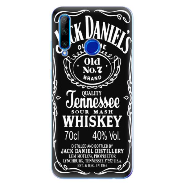 Odolné silikonové pouzdro iSaprio - Jack Daniels - Huawei Honor 20 Lite