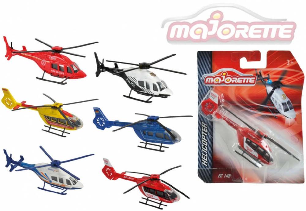 MAJORETTE Vrtulník kovový 13 cm 2 druhy - 6 barev