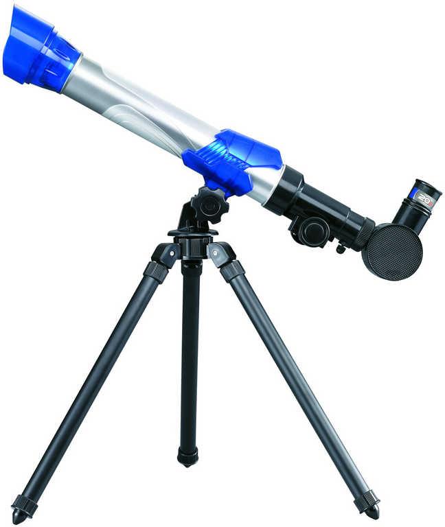 Teleskop dětský krajinářský 20x 30x 40x trojnožka v krabici