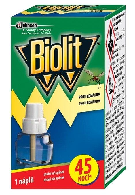 Biolit náhradní náplň do elektrického odpařovače proti komárům, 45 nocí, 27 ml