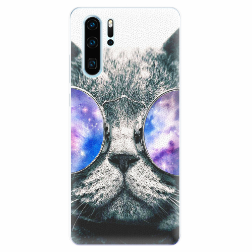 Silikonové pouzdro iSaprio - Galaxy Cat - Huawei P30 Pro
