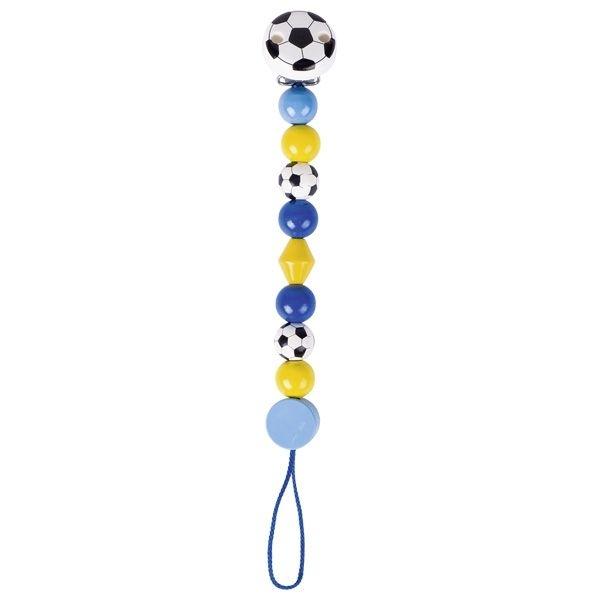 Goki Dřevěný řetízek na dudlík 17 cm - Fotbalový míč