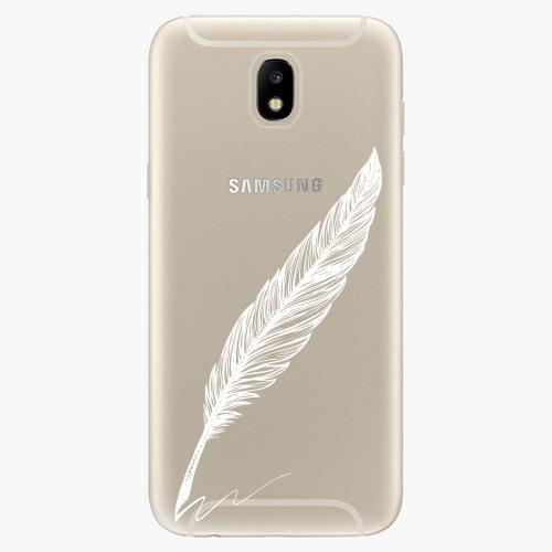 Silikonové pouzdro iSaprio - Writing By Feather - white - Samsung Galaxy J5 2017