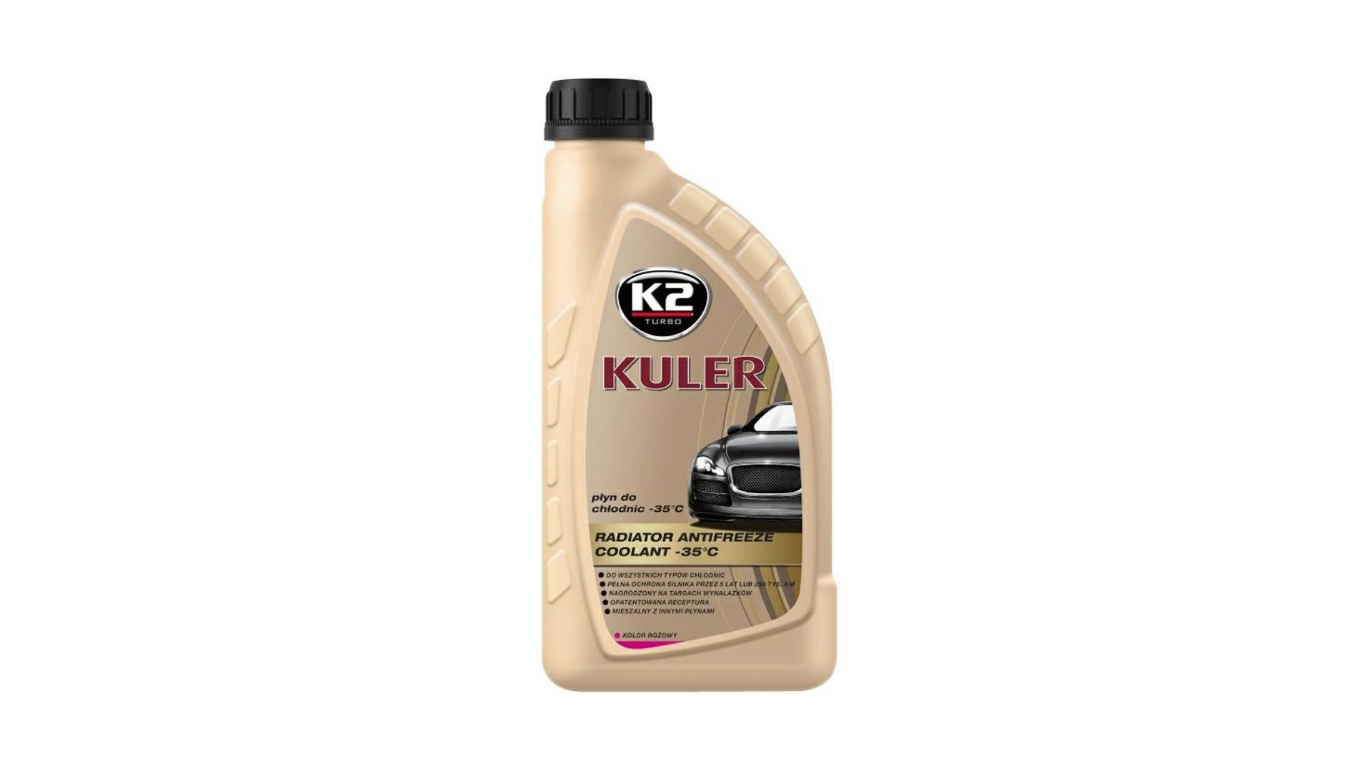 K2 KULER RŮŽOVÁ 1l - nemrznoucí kapalina do chladiče do -35 °C