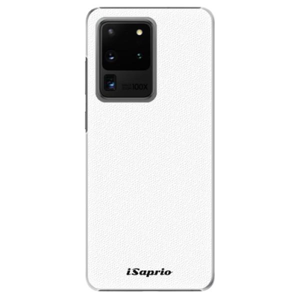 Plastové pouzdro iSaprio - 4Pure - bílý - Samsung Galaxy S20 Ultra