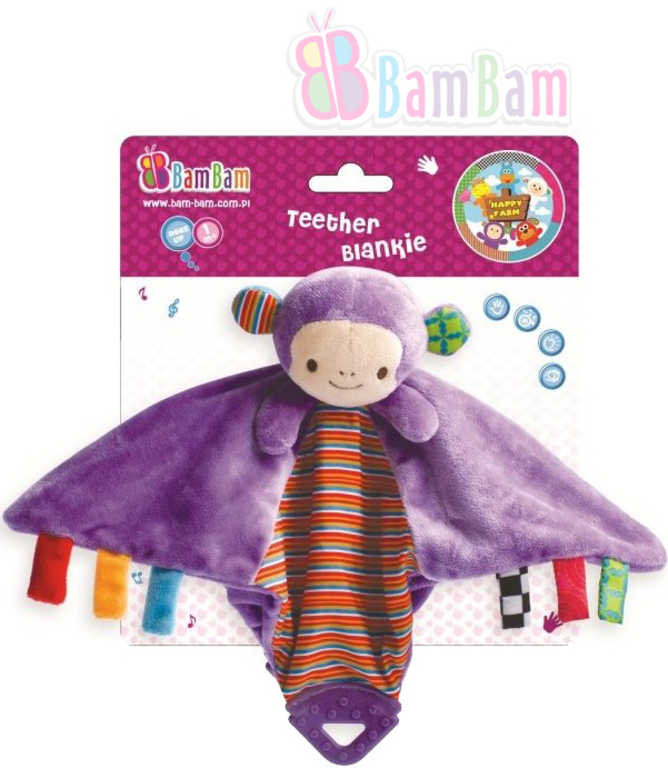 ET BAM BAM Opička Kousátko dečka pro miminko Opice 2 v 1 Baby